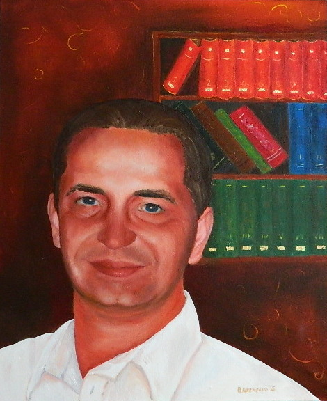 мужской портрет на холсте