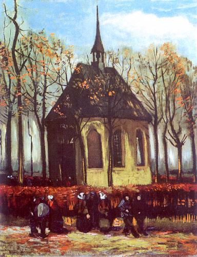 выход из протестанской церкви