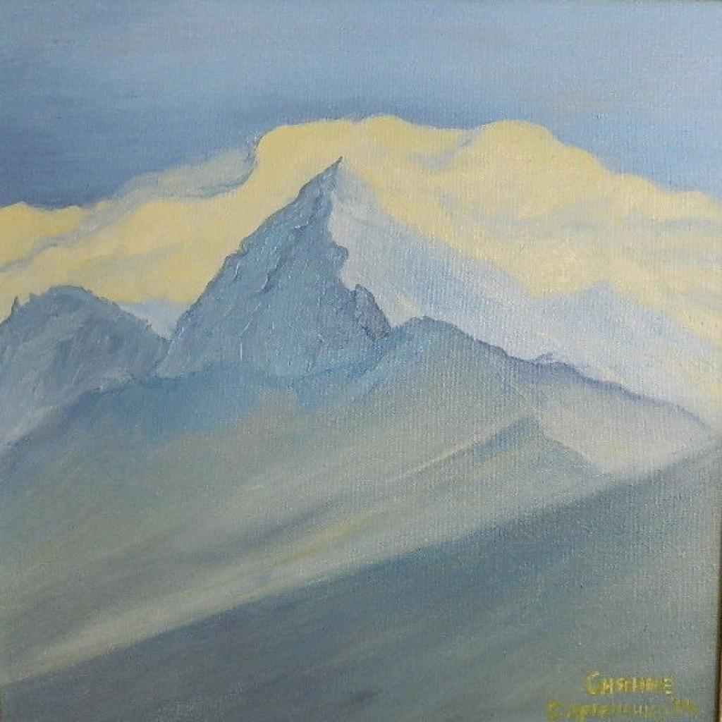масло-холст-горы