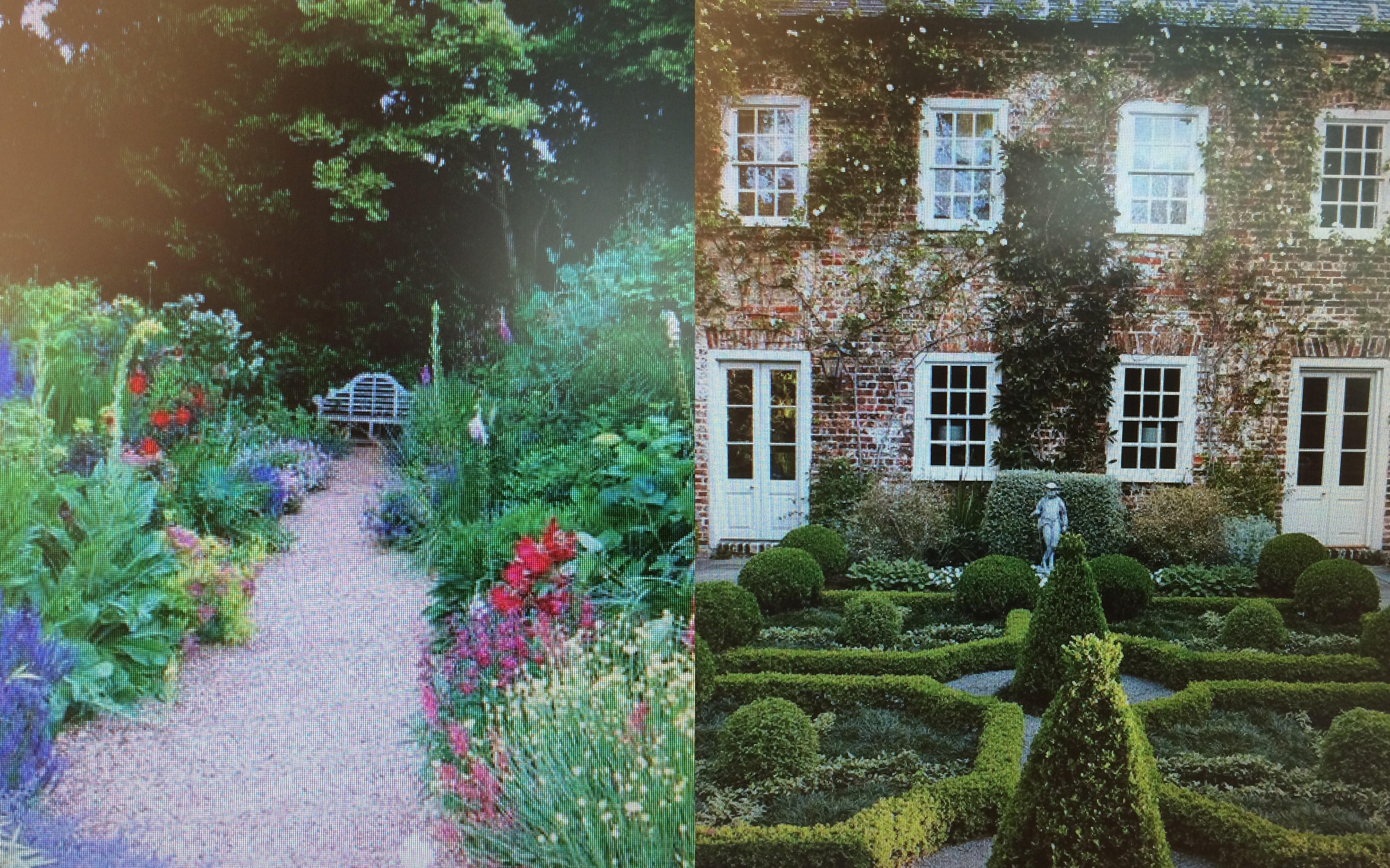 фото сада английского и французского