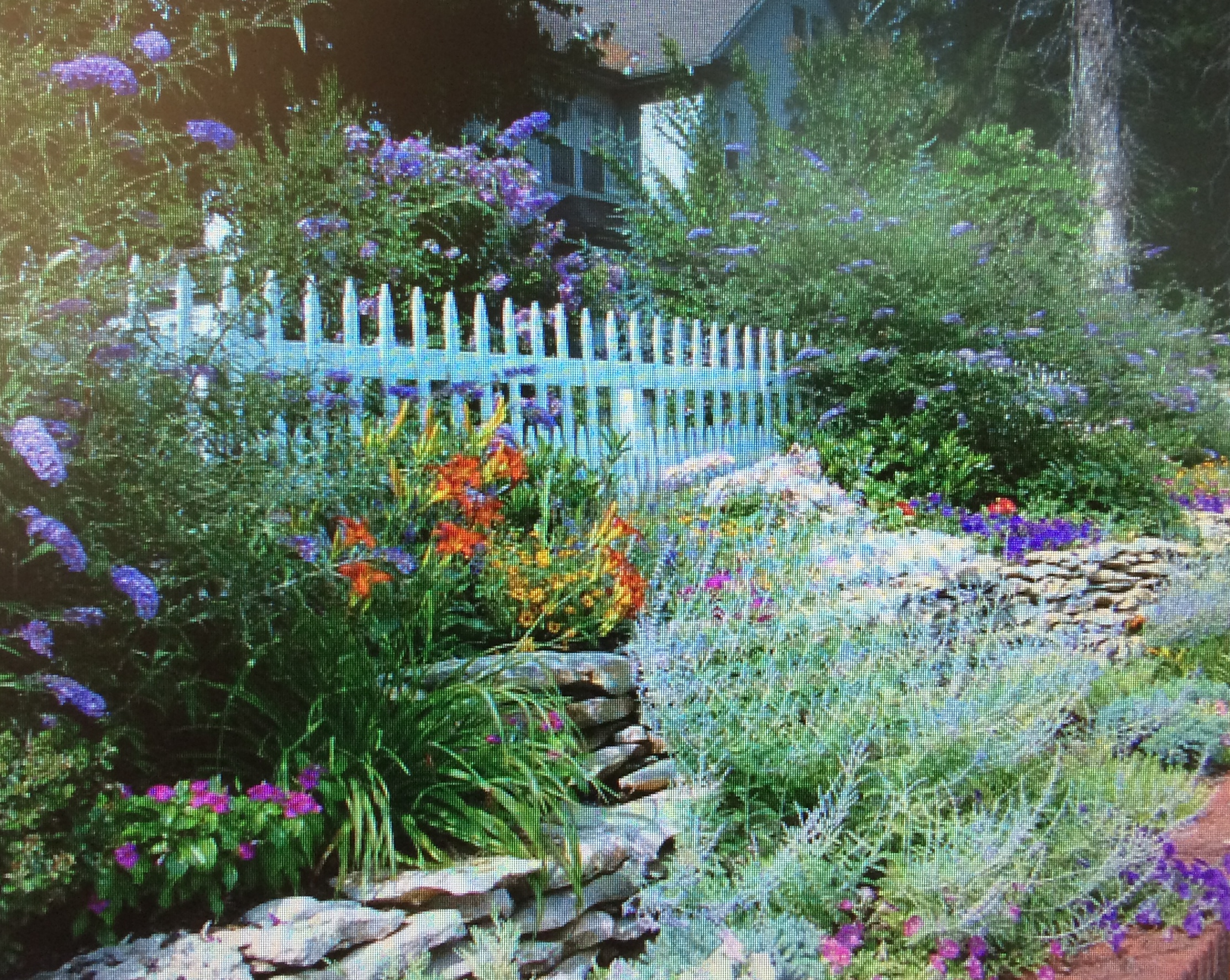 цветник английского садика
