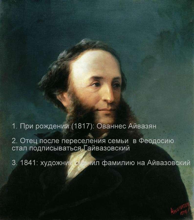 автопортрет айвазовского