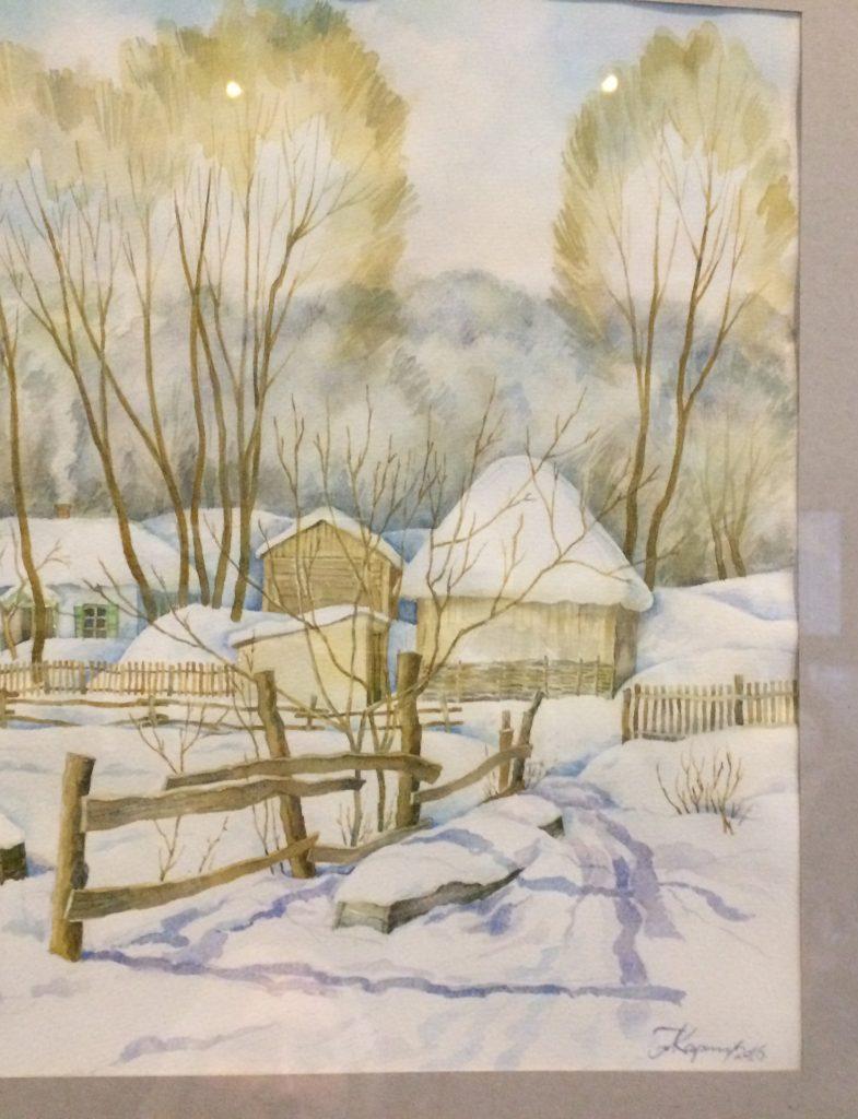 пейзаж_зимний_акварель